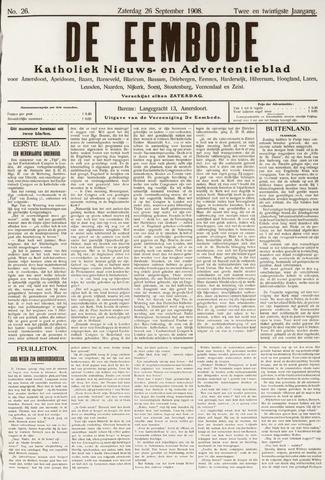De Eembode 1908-09-26