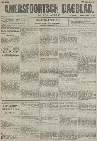 Amersfoortsch Dagblad / De Eemlander 1915-04-01