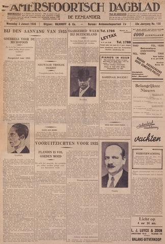 Amersfoortsch Dagblad / De Eemlander 1935-01-02