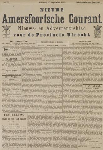 Nieuwe Amersfoortsche Courant 1899-09-27