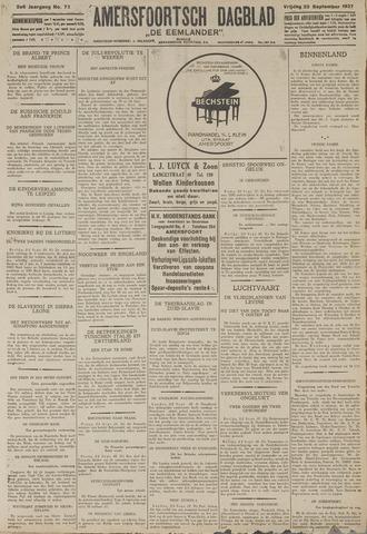 Amersfoortsch Dagblad / De Eemlander 1927-09-23