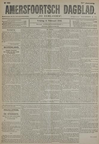 Amersfoortsch Dagblad / De Eemlander 1916-02-11