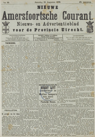 Nieuwe Amersfoortsche Courant 1920-08-21
