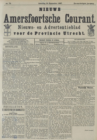 Nieuwe Amersfoortsche Courant 1907-09-28