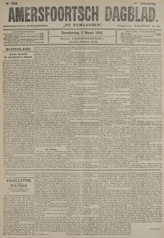 Amersfoortsch Dagblad / De Eemlander 1916-03-02