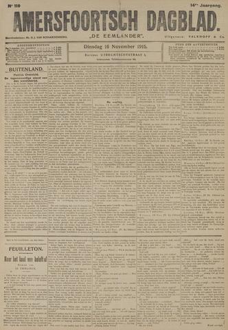 Amersfoortsch Dagblad / De Eemlander 1915-11-16