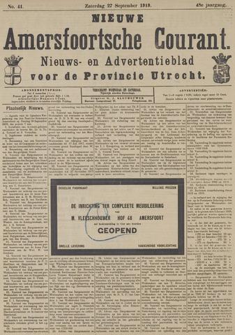 Nieuwe Amersfoortsche Courant 1919-09-27