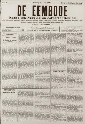De Eembode 1908-04-11