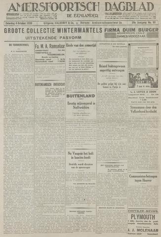 Amersfoortsch Dagblad / De Eemlander 1930-10-04