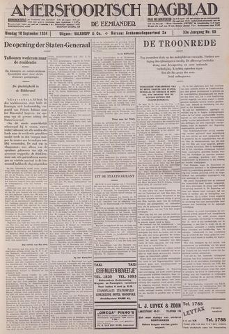 Amersfoortsch Dagblad / De Eemlander 1934-09-18