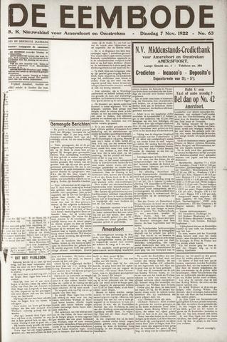 De Eembode 1922-11-07