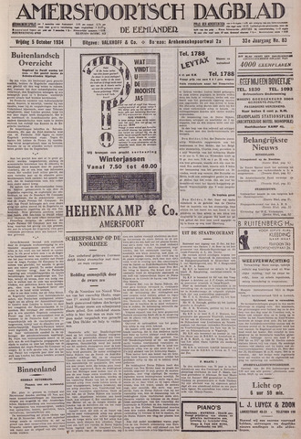 Amersfoortsch Dagblad / De Eemlander 1934-10-05
