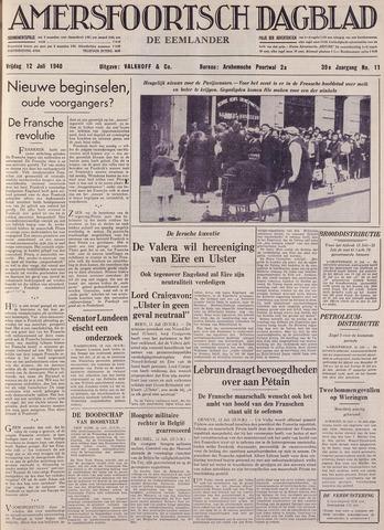 Amersfoortsch Dagblad / De Eemlander 1940-07-12