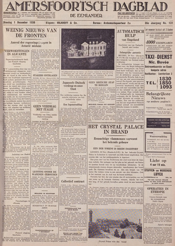 Amersfoortsch Dagblad / De Eemlander 1936-12-01