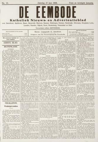 De Eembode 1908-06-27