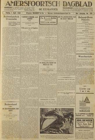 Amersfoortsch Dagblad / De Eemlander 1932-04-01