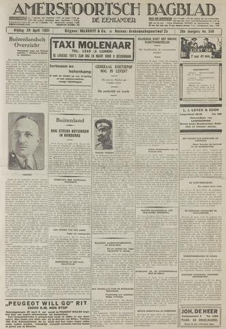 Amersfoortsch Dagblad / De Eemlander 1931-04-24