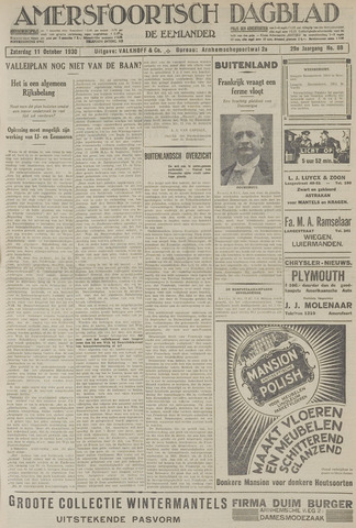Amersfoortsch Dagblad / De Eemlander 1930-10-11