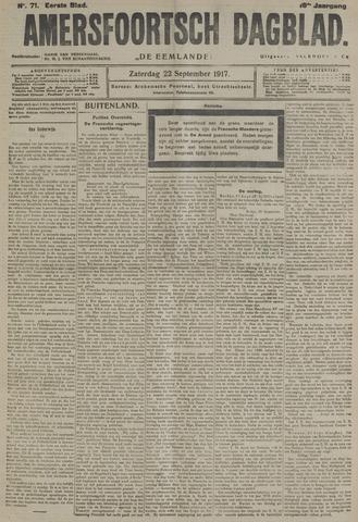 Amersfoortsch Dagblad / De Eemlander 1917-09-22