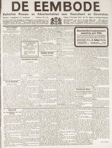 De Eembode 1915-12-17