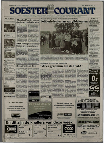 Soester Courant 2003-08-27