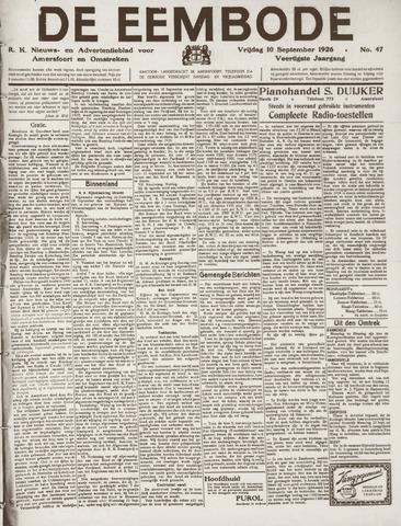 De Eembode 1926-09-10
