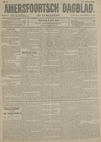 Amersfoortsch Dagblad / De Eemlander 1916-07-03