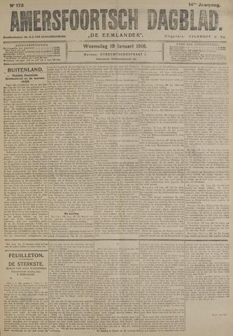 Amersfoortsch Dagblad / De Eemlander 1916-01-19