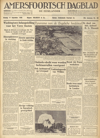 Amersfoortsch Dagblad / De Eemlander 1940-09-17