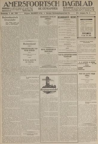 Amersfoortsch Dagblad / De Eemlander 1931-07-02