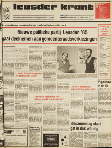 Leusder Krant 1985-11-07