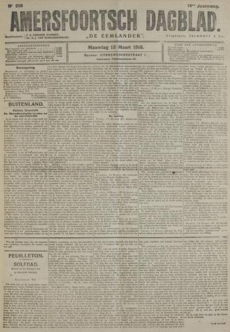 Amersfoortsch Dagblad / De Eemlander 1916-03-13