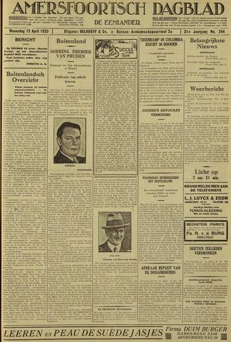 Amersfoortsch Dagblad / De Eemlander 1933-04-12