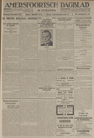 Amersfoortsch Dagblad / De Eemlander 1933-12-13