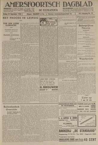 Amersfoortsch Dagblad / De Eemlander 1933-09-22