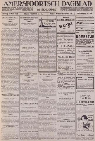 Amersfoortsch Dagblad / De Eemlander 1935-04-20