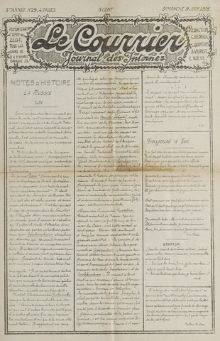 Le Courrier 1918-06-09