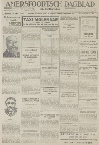 Amersfoortsch Dagblad / De Eemlander 1931-04-29