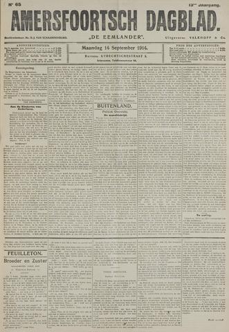 Amersfoortsch Dagblad / De Eemlander 1914-09-14