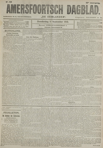 Amersfoortsch Dagblad / De Eemlander 1913-09-11