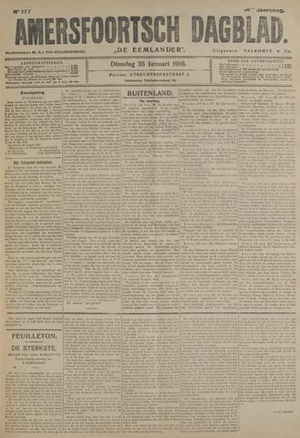 Amersfoortsch Dagblad / De Eemlander 1916-01-25