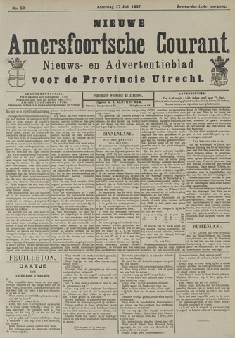 Nieuwe Amersfoortsche Courant 1907-07-27