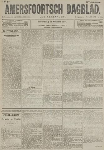 Amersfoortsch Dagblad / De Eemlander 1914-10-21