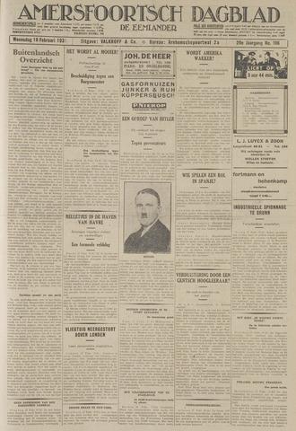 Amersfoortsch Dagblad / De Eemlander 1931-02-18