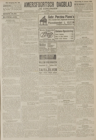 Amersfoortsch Dagblad / De Eemlander 1925-01-14