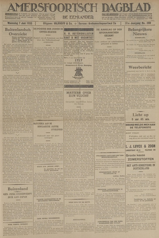 Amersfoortsch Dagblad / De Eemlander 1933-06-07