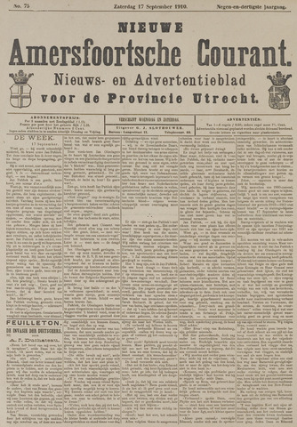 Nieuwe Amersfoortsche Courant 1910-09-17