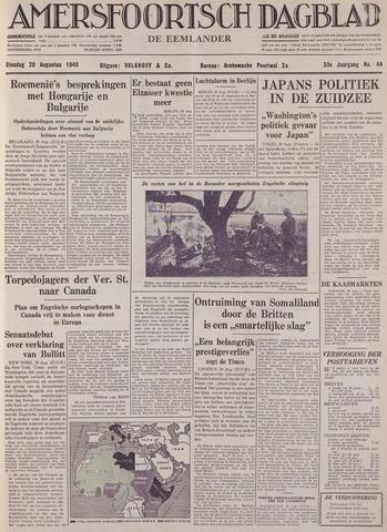 Amersfoortsch Dagblad / De Eemlander 1940-08-20
