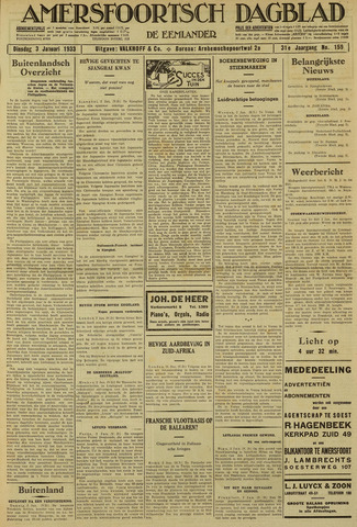 Amersfoortsch Dagblad / De Eemlander 1933-01-03