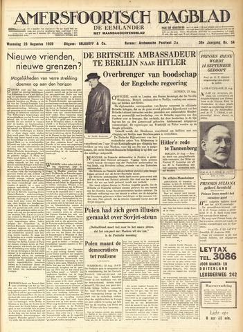 Amersfoortsch Dagblad / De Eemlander 1939-08-23